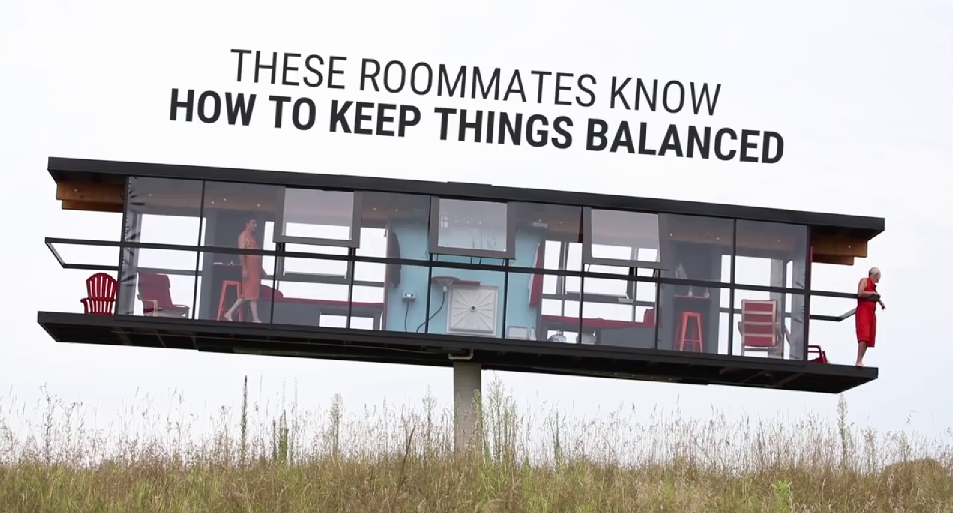 This tilting house forces roommates to cooperate