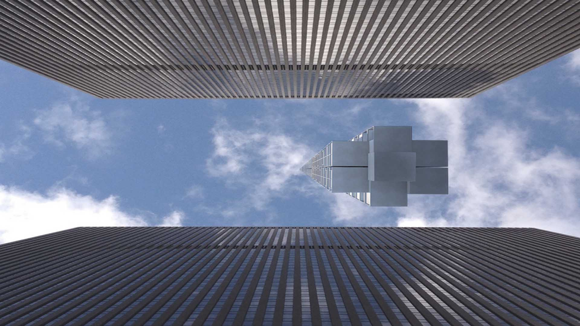 This is heights! A Skyscraper Building Dangling From Outer Space