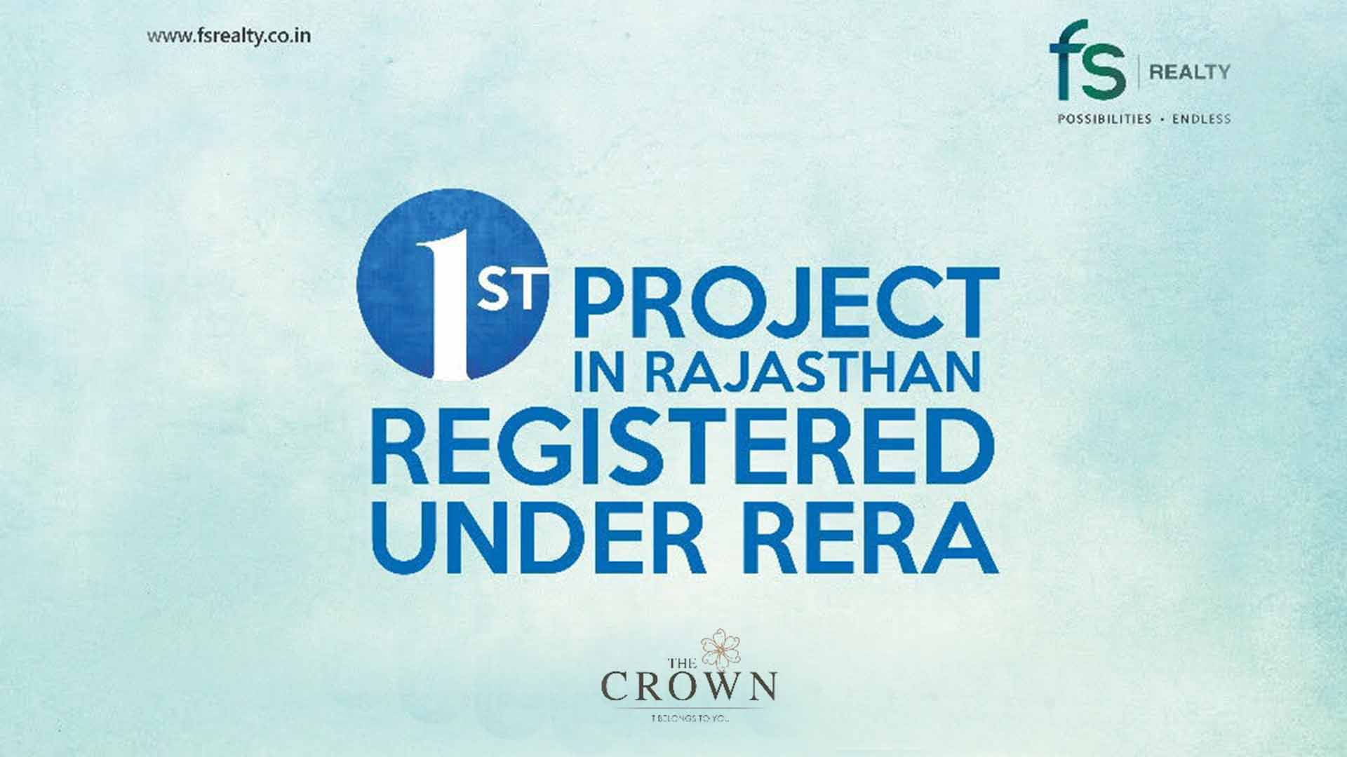 FS Realty Becomes The First Developer In Rajasthan To Get RERA Compliant Project