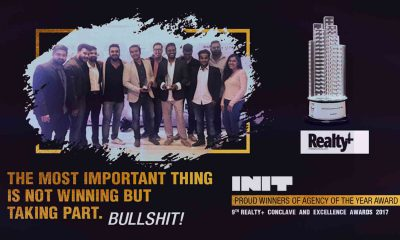 INIT Design Studio Mumbai Wins The Prestigious Realty Plus Excellence Awards 2017
