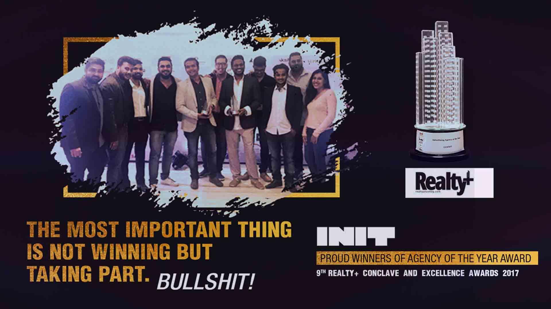 init design studio mumbai wins :the prestigious realty plus excellence awards 2017