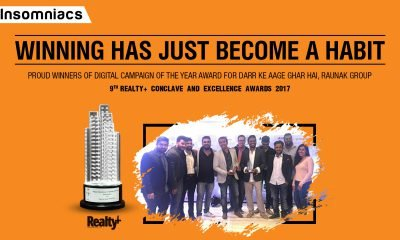 Insomniacs bags the Social Media Campaign of the Year at the Realty Plus Excellence Awards 2017