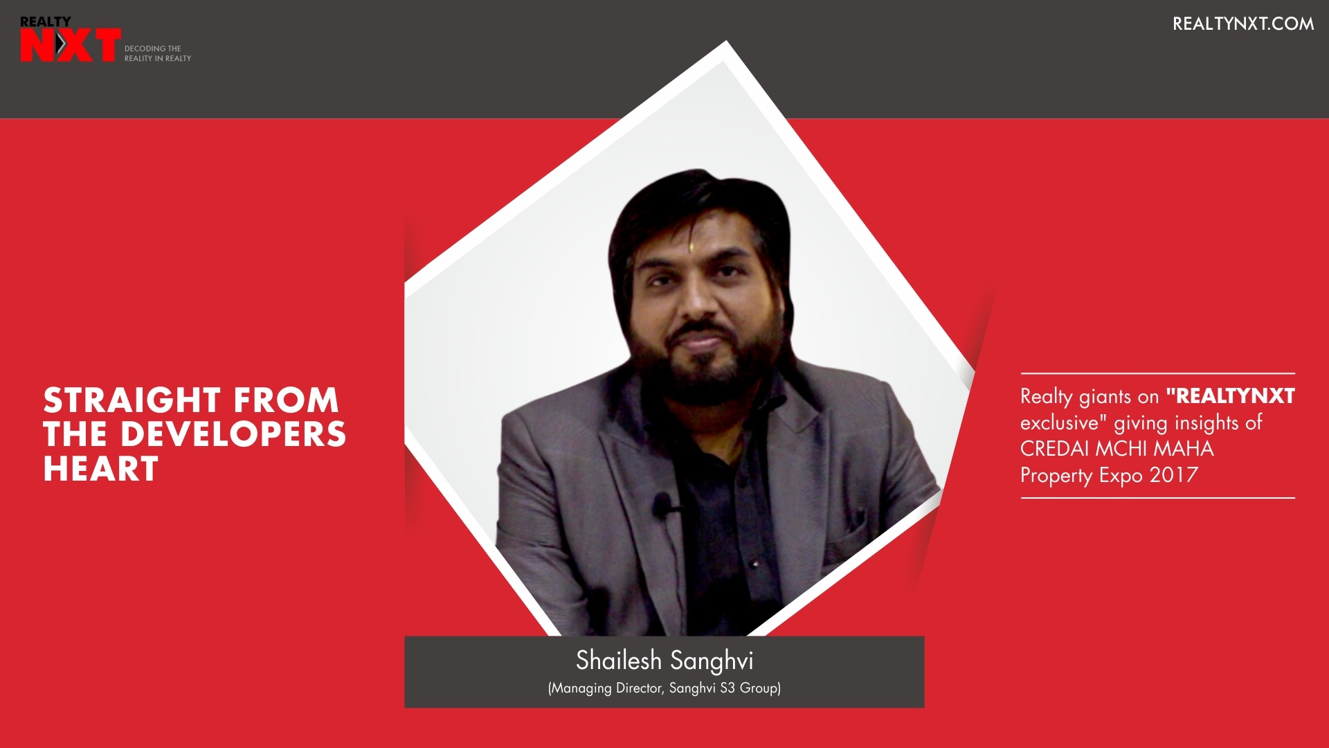 Realty Nxt Interviews, Mr. Shailesh Sanghvi