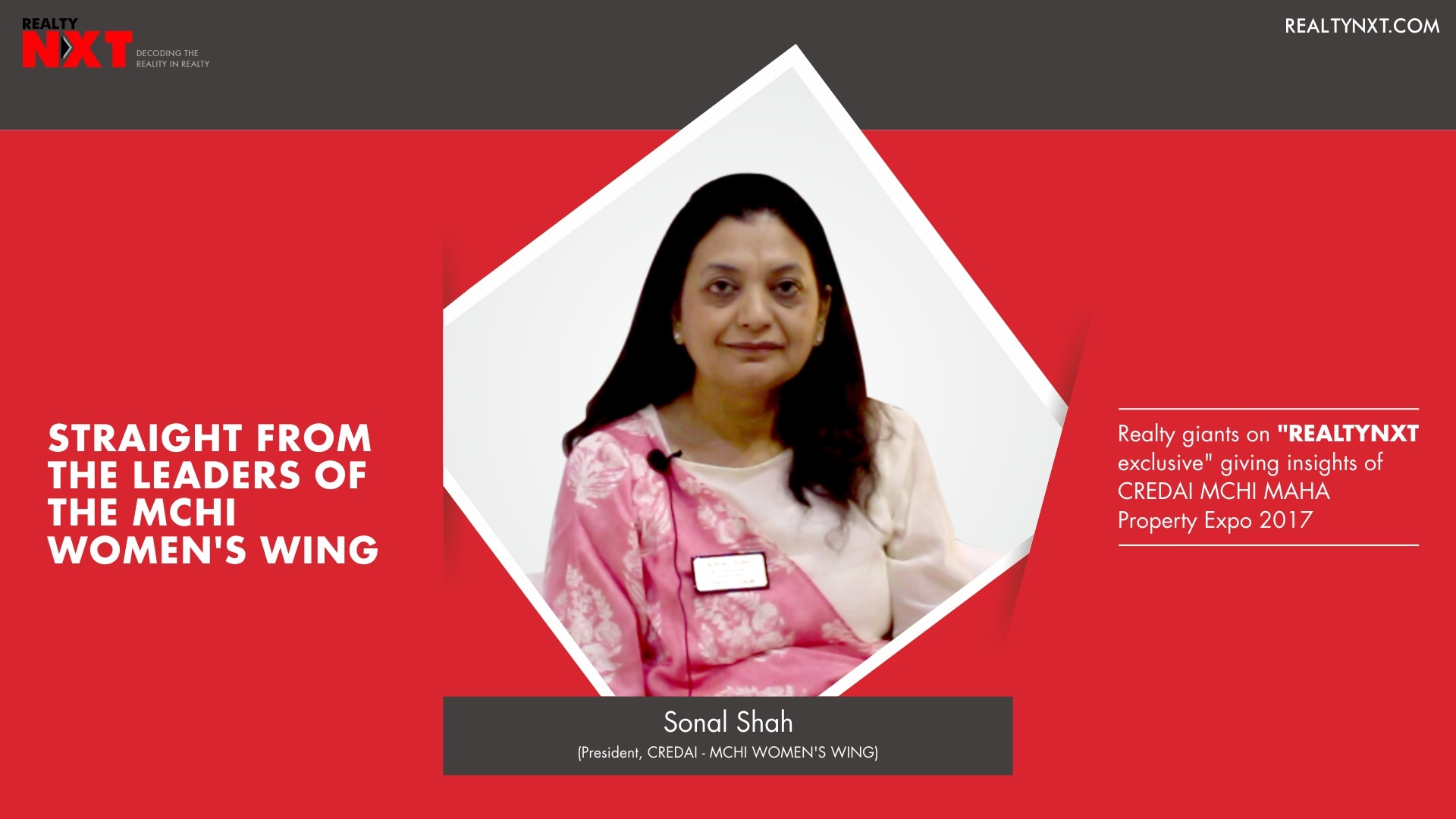 Realty Nxt Interviews, with Mrs. Sonal Shah