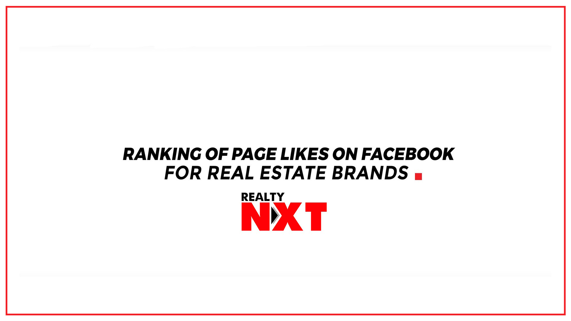 Top 10 Real Estate Brands on Social Media 2017