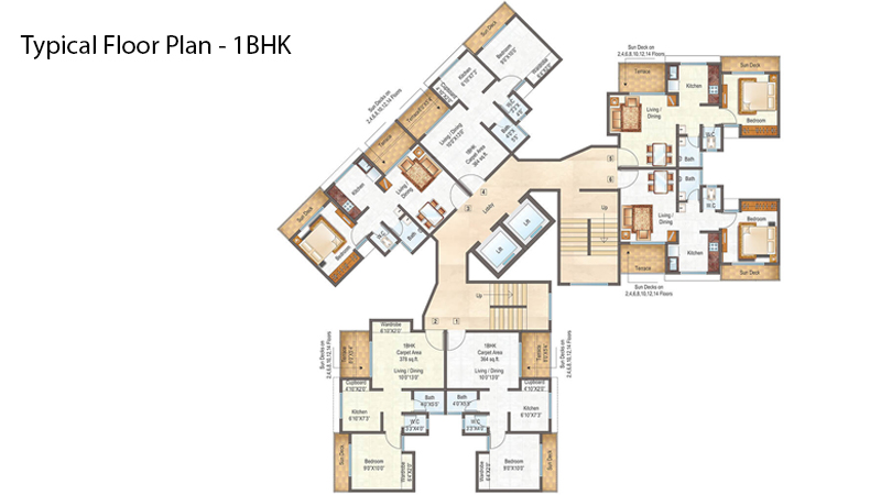 Raunak City Floor Plan