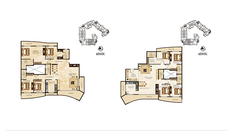 Tulsi Signature floor plan 4bhk