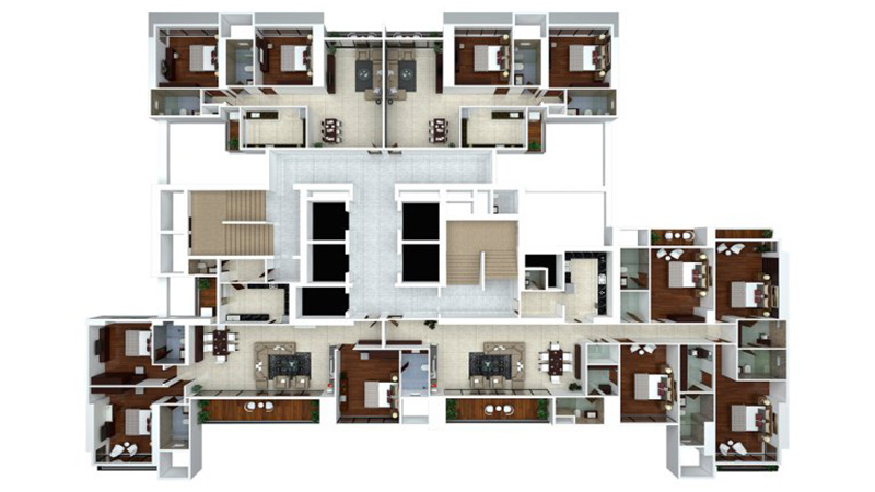Ajmera Zeon Floor Plan