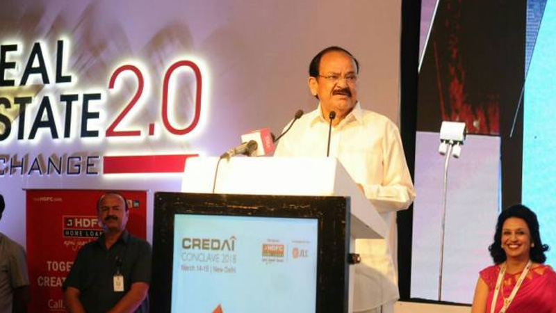 Venkaiah Naidu Urges To Correct Land Prices For Low-Cost Homes