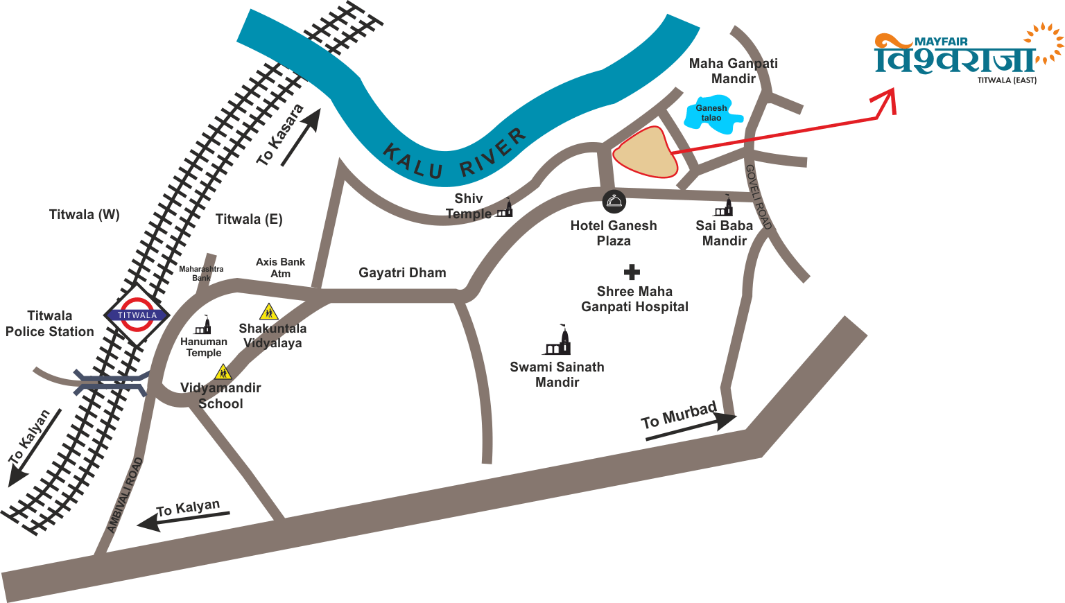 Mayfair Vishwaraja Location Map