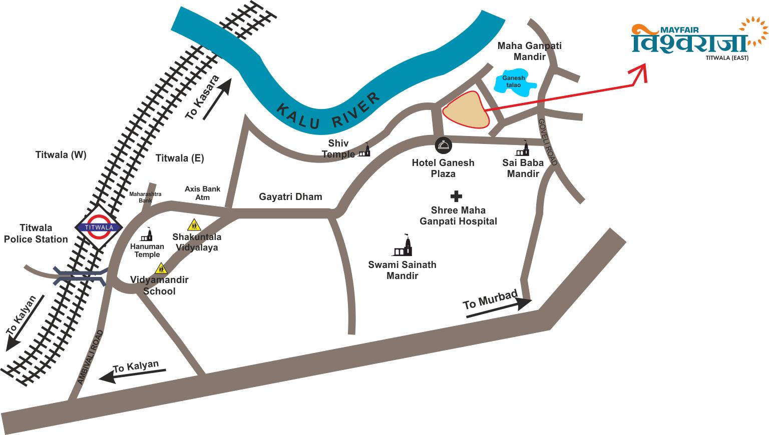 Mayfair VishwarajaLocation Map