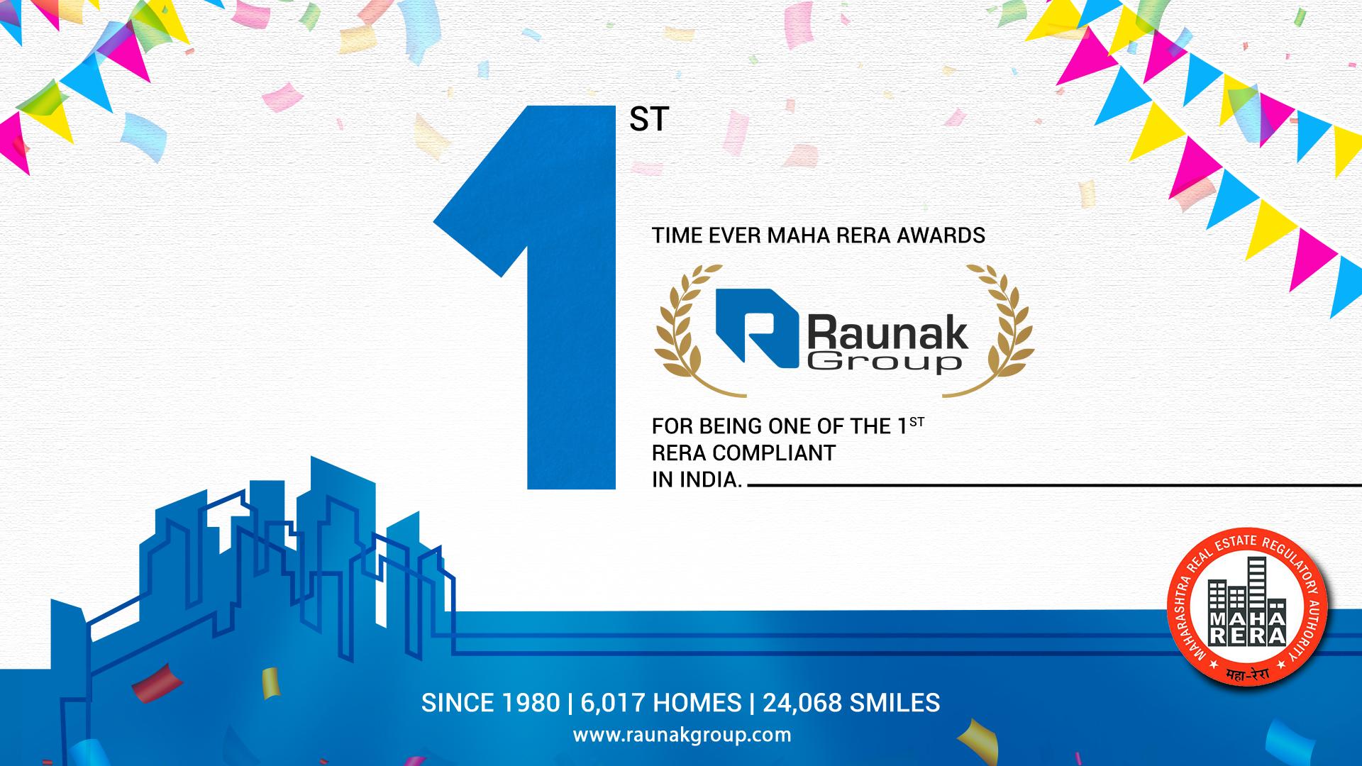 MahaRERA awards Raunak Group