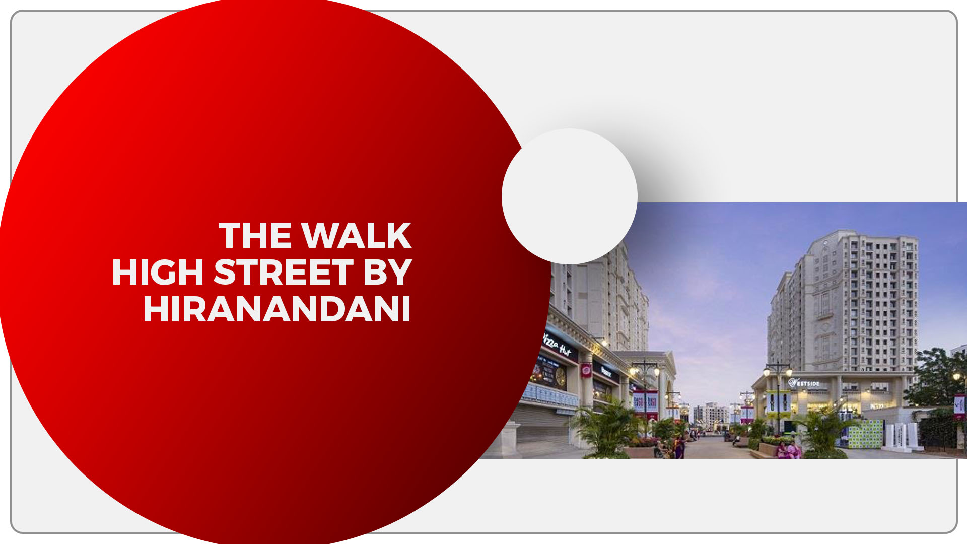 The Walk A high street culture zone in Thane