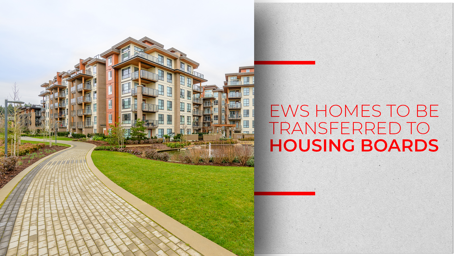 EWS Houses To Be Transferred To Haryana Housing Board