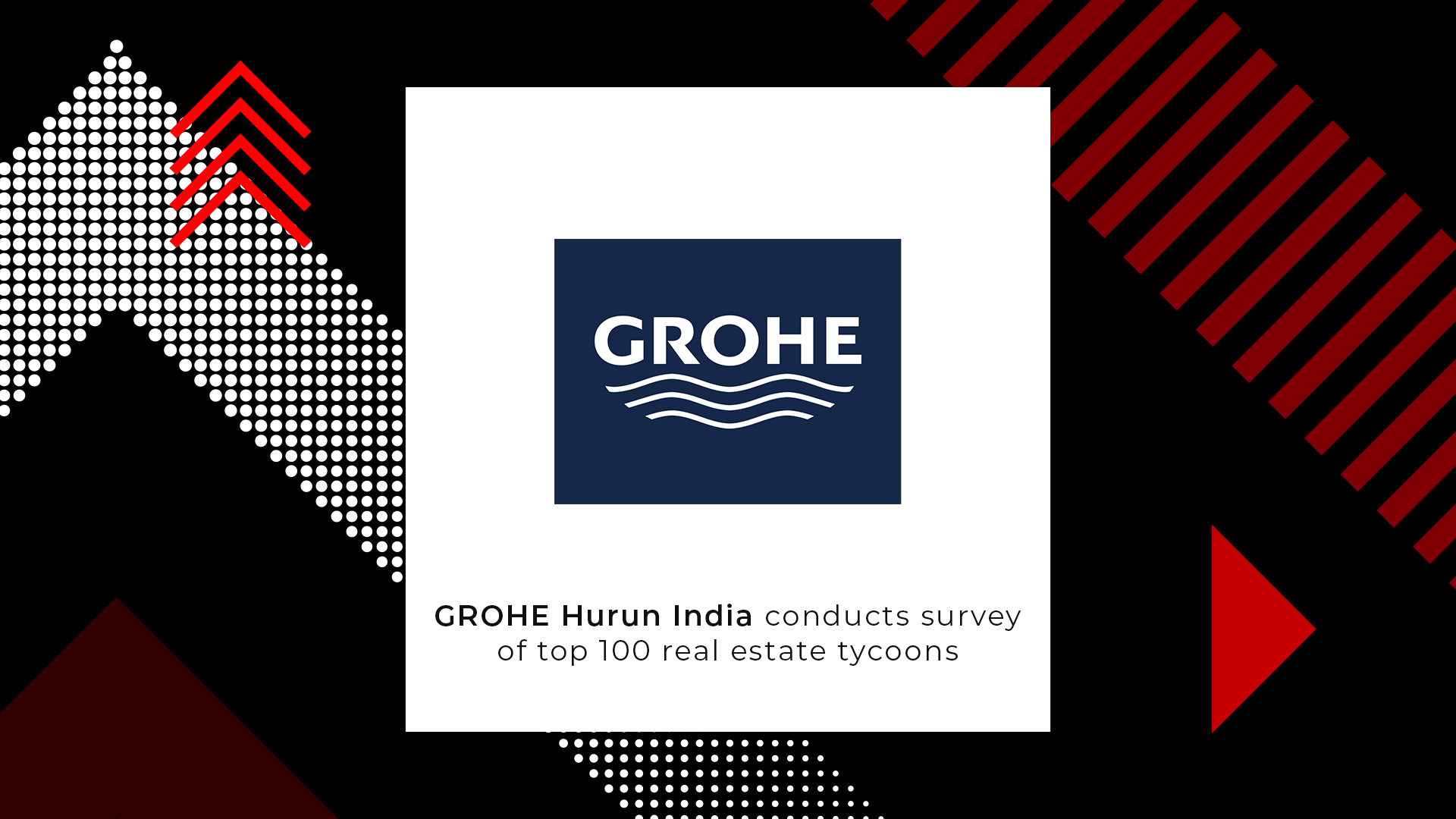 GROHE Hurun India conducts survey of top 100 real estate tycoons