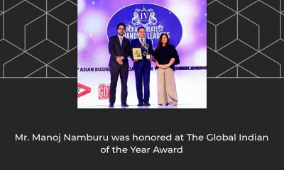 Alliance Group CMD Awarded the Global Indian of the Year 2018-19