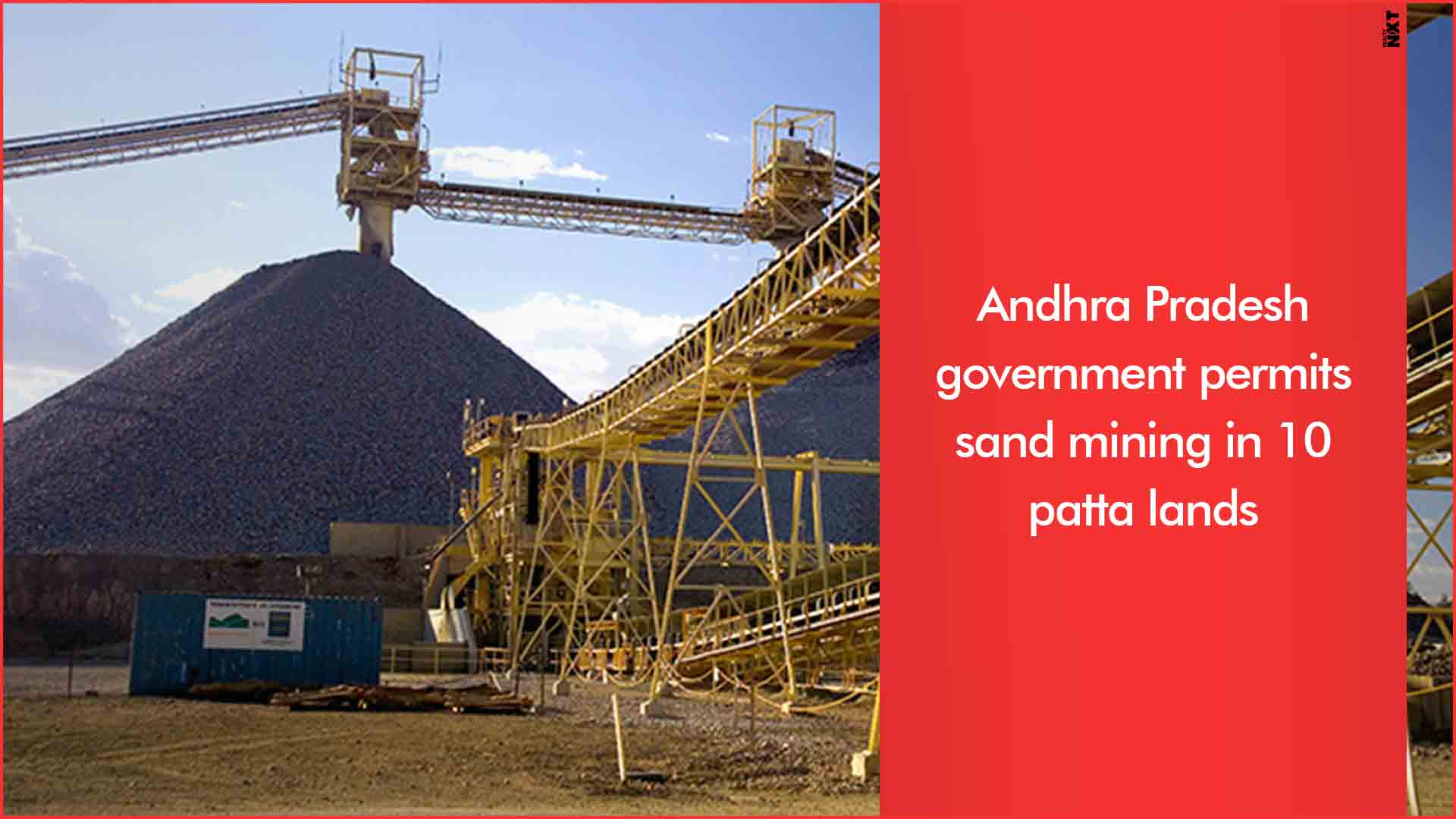 Andhra Pradesh government permits sand mining in 10 patta lands to overcome crisis