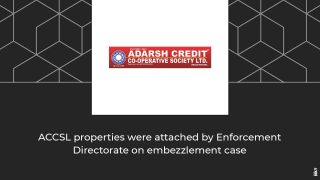 ED attaches properties worth Rs 1489 crore in Adarsh Credit Cooperative Society case