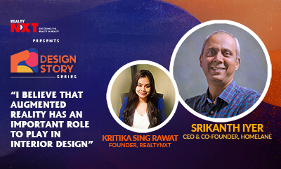 Srikanth Iyer, CEO, HomeLane & Kritika S. Rawat, Founder, RealtyNXT